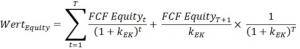Unternehmensbewertung_Nettokapitalisierung_Equity