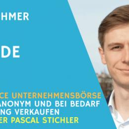 Teaser - Unternehmensbörse Carl Finance - mit Pascal Stichler